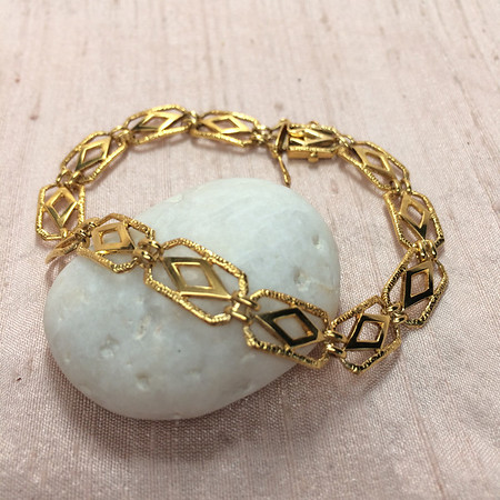 Antique Die-Struck Yellow Gold Bracelet