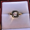 .53ctw Rose Cut Halo Ring, by Single Stone 22