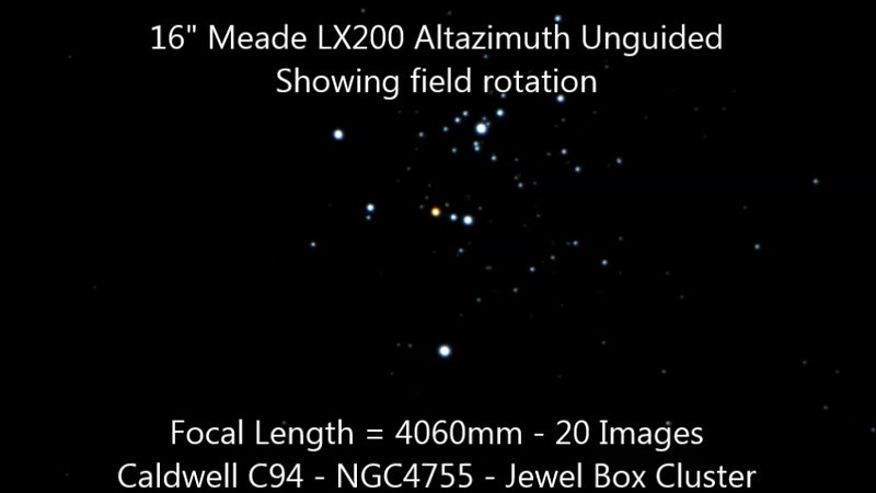 Caldwell 94 - NGC4755 - Jewel Box Cluster - 8/2/2014 (Processed stills into video)