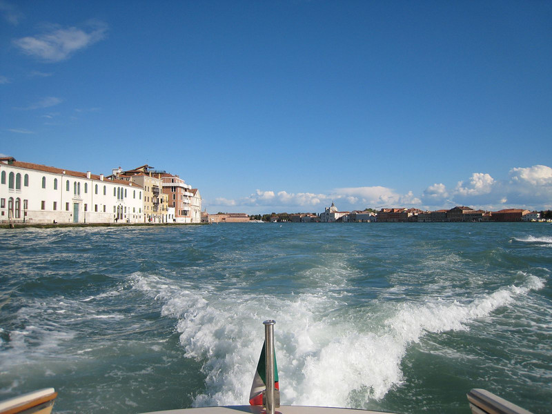 Venice - Water taxi ride to the ship