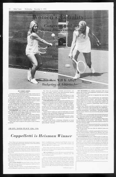 Daily Trojan, Vol. 66, No. 51, December 05, 1973