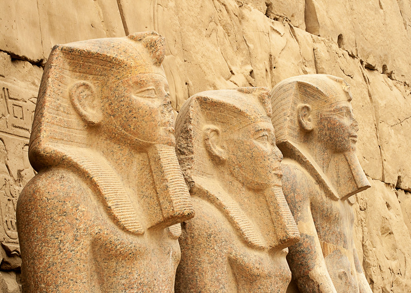 Three Pharaohs At Karnak Temple, Egypt