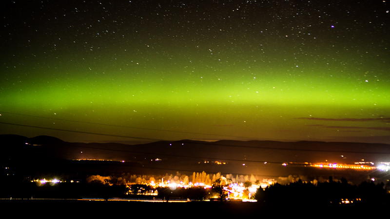 Aurora over the Mearns
