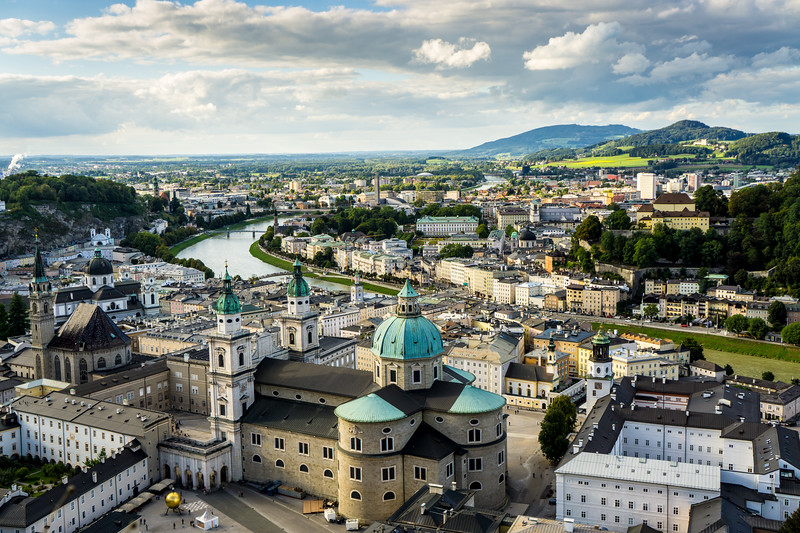 Salzburg: City View After the Rain