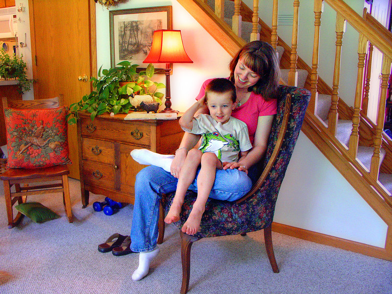 Sarah with her son Cullen