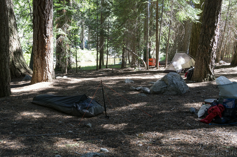 Final camp in Lower Paradise Valley. We were expecting big crowds, though there were just a few other people