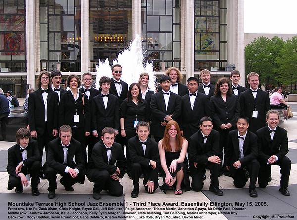 Mountlake Terrace HS Jazz Ensemble 1, Essentially Ellington  Jazz Festival (MTHS JE1 EE), NYC, May, 2005, slideshow