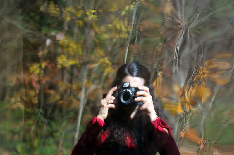 blurry self portrait