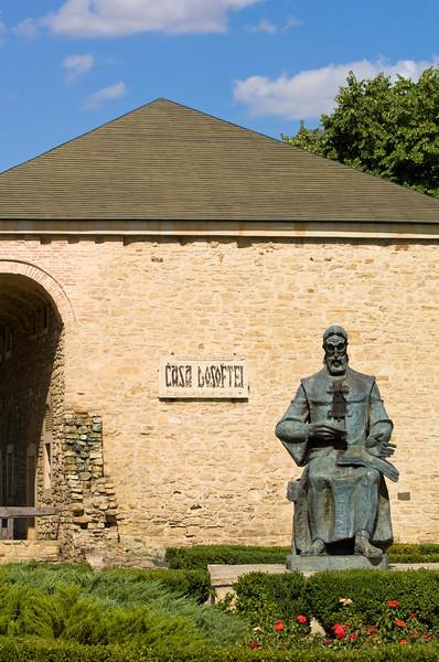 Statue of Metropolitan Dosoftei, Iasi, Moldavia, Romania