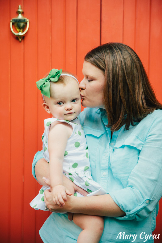 18-Month-Old Lorelai & her Mom in Downtown McKinney, Texas. Photo by Mary Cyrus - Portraits & Weddings in Dallas & Beyond.
