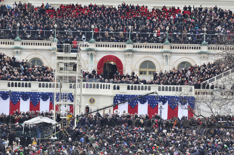 President Obama gives his speech on Inauguration Day