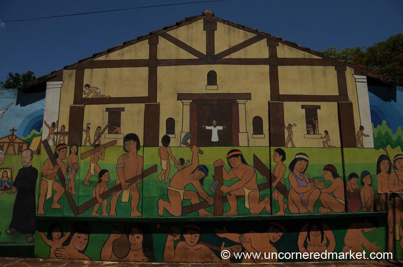 Murales de Conquistadores - San Ignacio, Paraguay