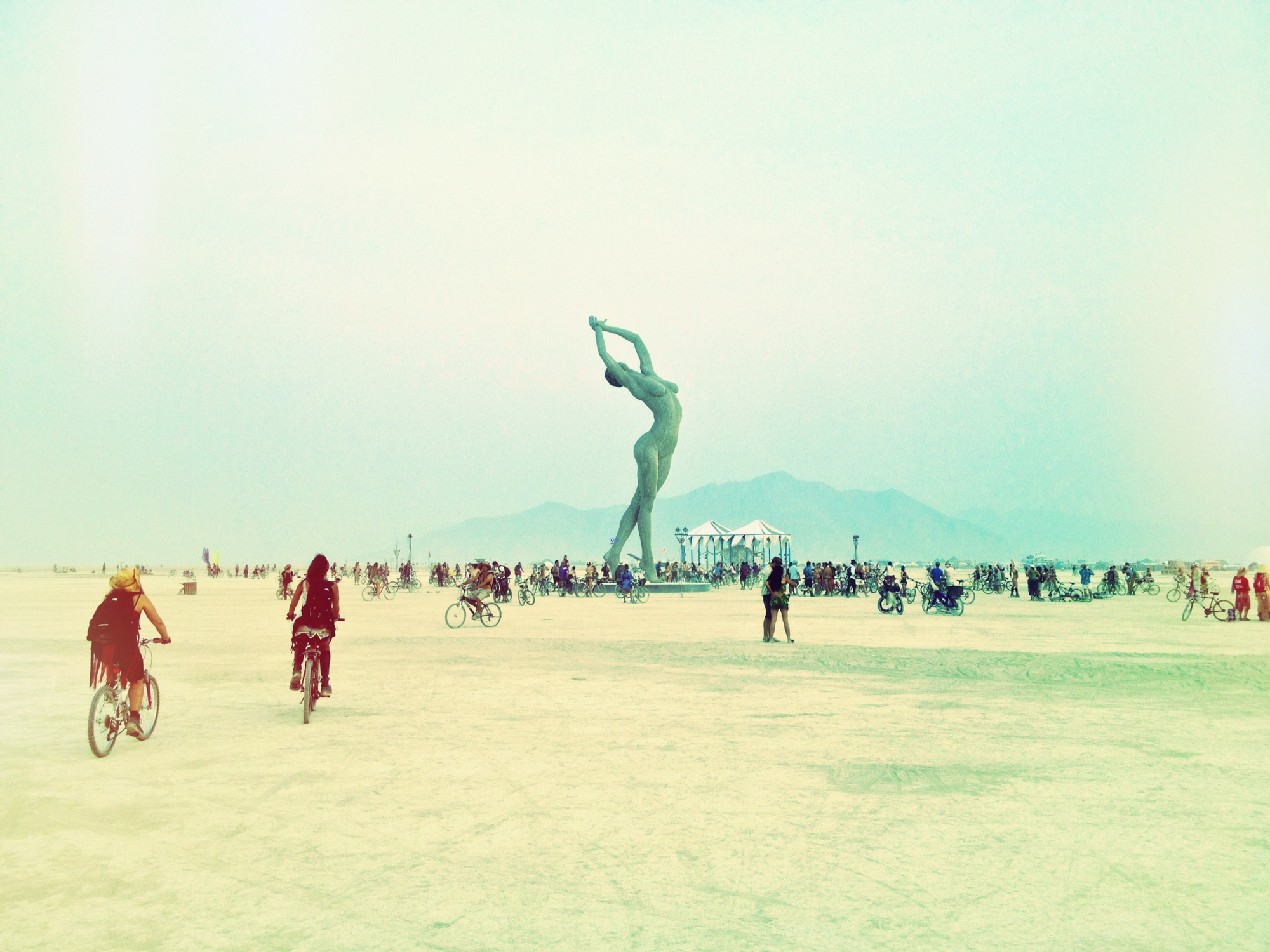 Female Body Art Installment at Burning Man
