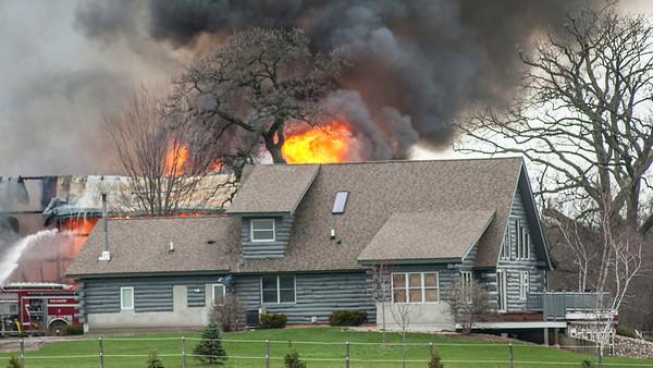 Hampshire Barn Fire April 2, 2017