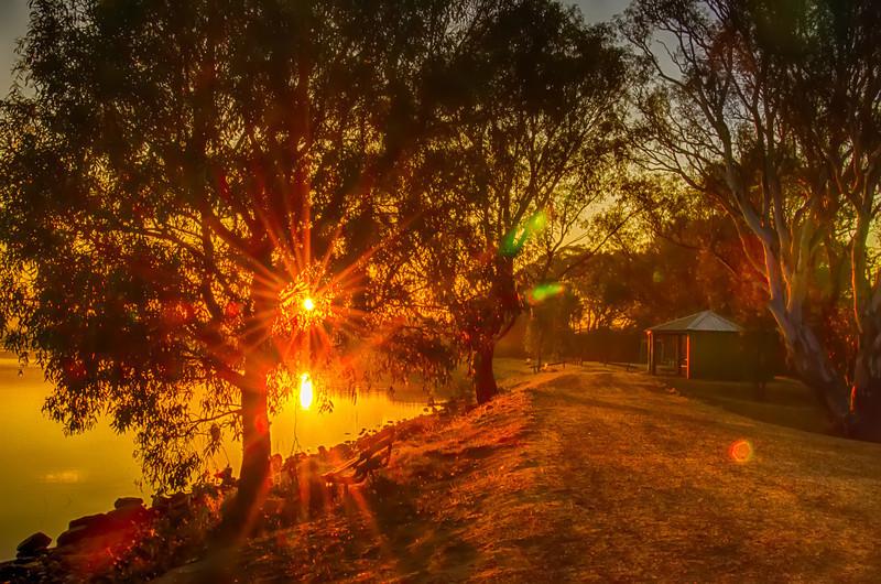 Sunrise at Green Hill Lake