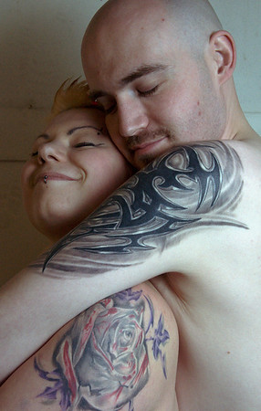 Alicja and LoneWolf Tattoo Pics
