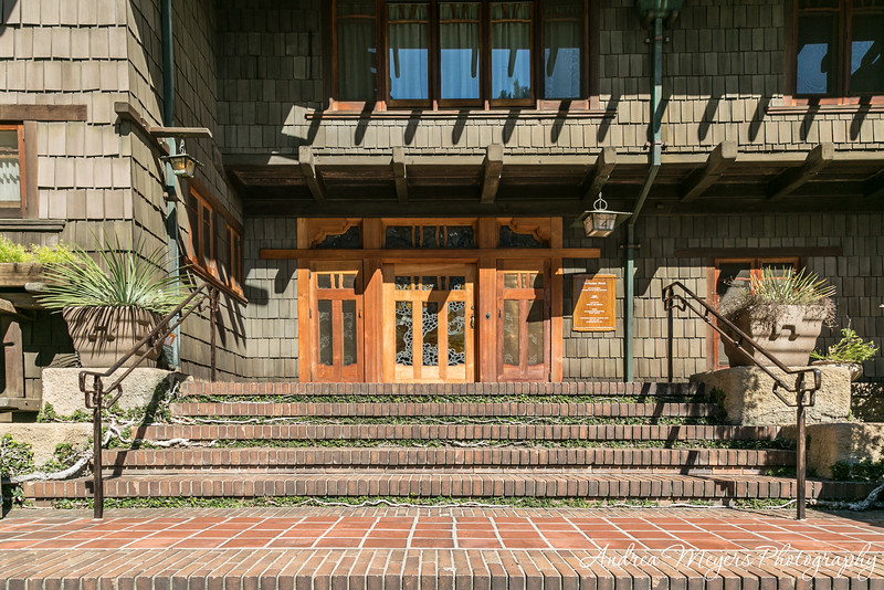 Gamble House entrance, Pasadena