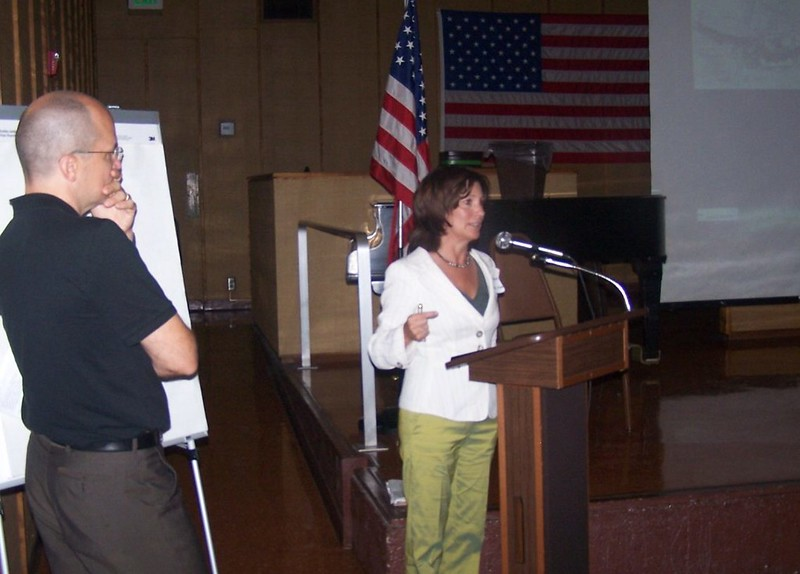 At this meeting California State Parks presented the three finalist of the park design competition.