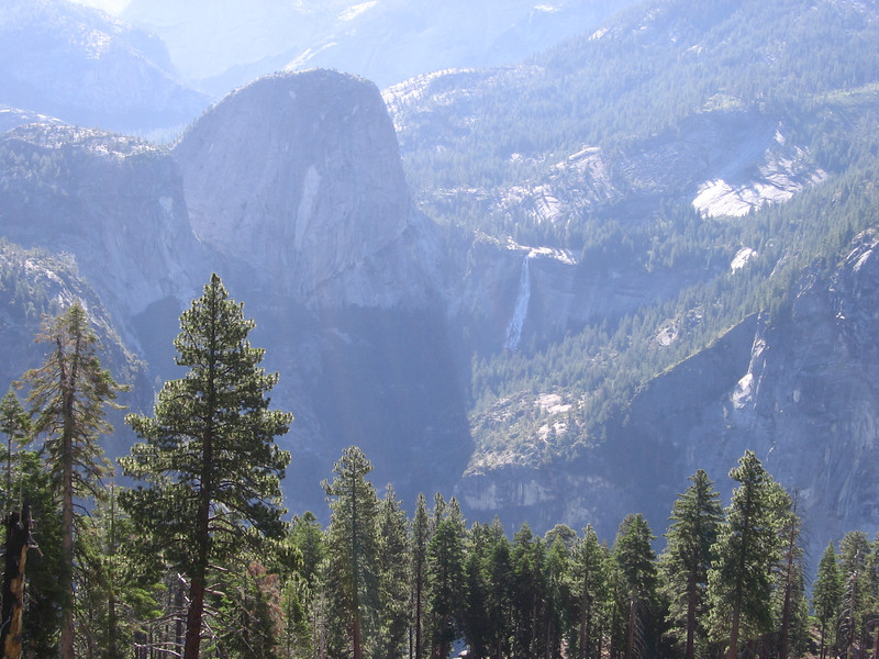Liberty Cap and Nevada Fall, from West.