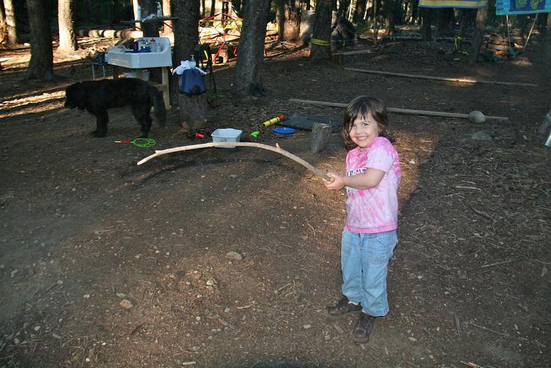 Keira found a smores stick!
