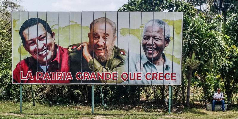 Billboard, near Cienfuegos