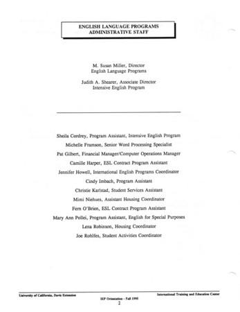 UCDavis IEP Orientation Handbook, Fall 1995