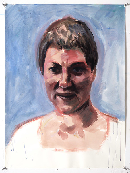 Portrait study - Terry; acrylic on paper, 22 x 30 in, 2000