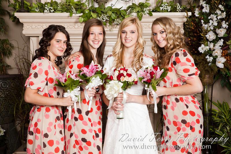 Wedding reception at Western Garden Center Atrium  by David Terry Photography