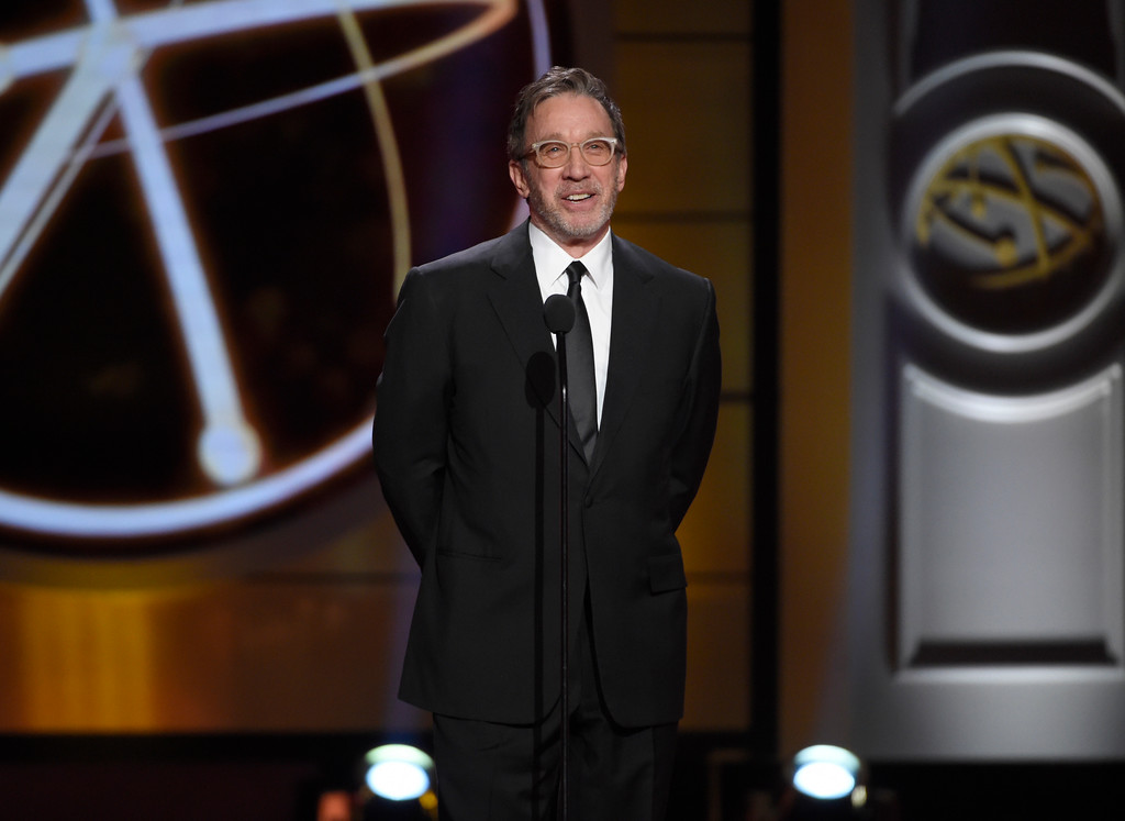 . Tim Allen speaks on stage at the 44th annual Daytime Emmy Awards at the Pasadena Civic Center on Sunday, April 30, 2017, in Pasadena, Calif. Allen will perform at the Hard Rock Rocksino at Northfield Park on Aug. 19. For more information, visit hrrocksinonorthfieldpark.com. (Photo by Chris Pizzello/Invision/AP)