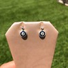1.00ctw Old Mine Cut and Sapphire Target Dangle Earings 8
