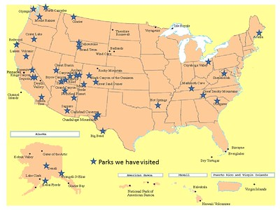 Map of National Parks