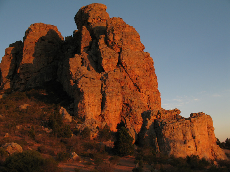 The main bluffs of Mt Arapiles, Victoria  Photo: Trent