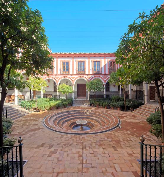Yard of Hospital de los Venerables Sacerdotes, Seville, Spain