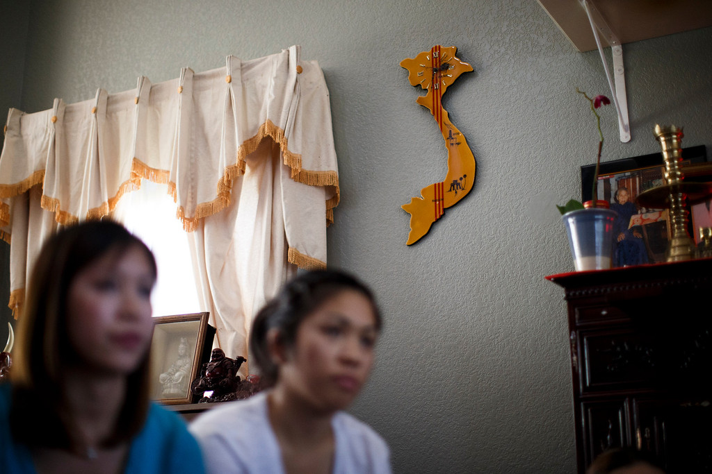 . A clock shaped of Vietnam is hang at the home of Linda-Hoa Duong, whose son, Vince Canh Xuan Nguyen, passed away in a tiny hotel room in Vietnam on July 1, 2013, after a night of drinking ended with him gravely ill, unable to control his body functions. (Dai Sugano/Bay Area News Group)
