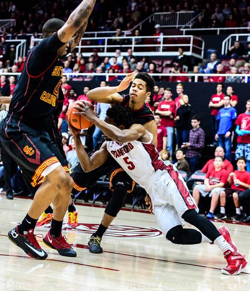 2015 COL BBALL: USC VS STANFORD