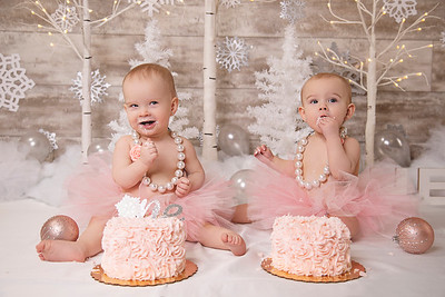 Paige + Piper | Winter ONEderland Cake Smash