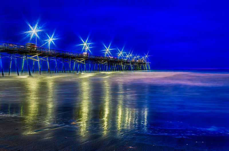 Bogue Inlet Fishing Pier  Evening Glow.jpg