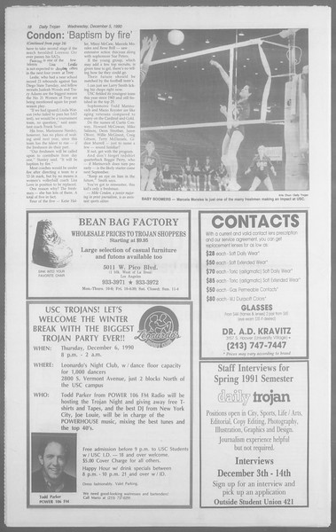 Daily Trojan, Vol. 113, No. 63, December 05, 1990