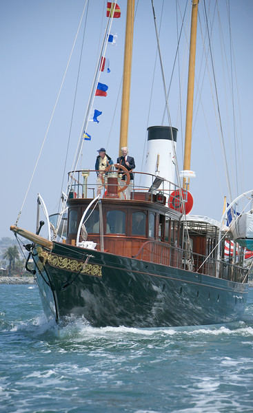 Cangarda and Medea steam yacht  races 2010