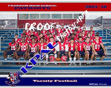 2015 Freedom Football Team Photos