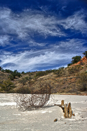 Barb wire looks like a tumbleweed. Ruby, AZ ghost town
