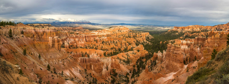 A panoramic view of Bryce Canyon in Utah - USA