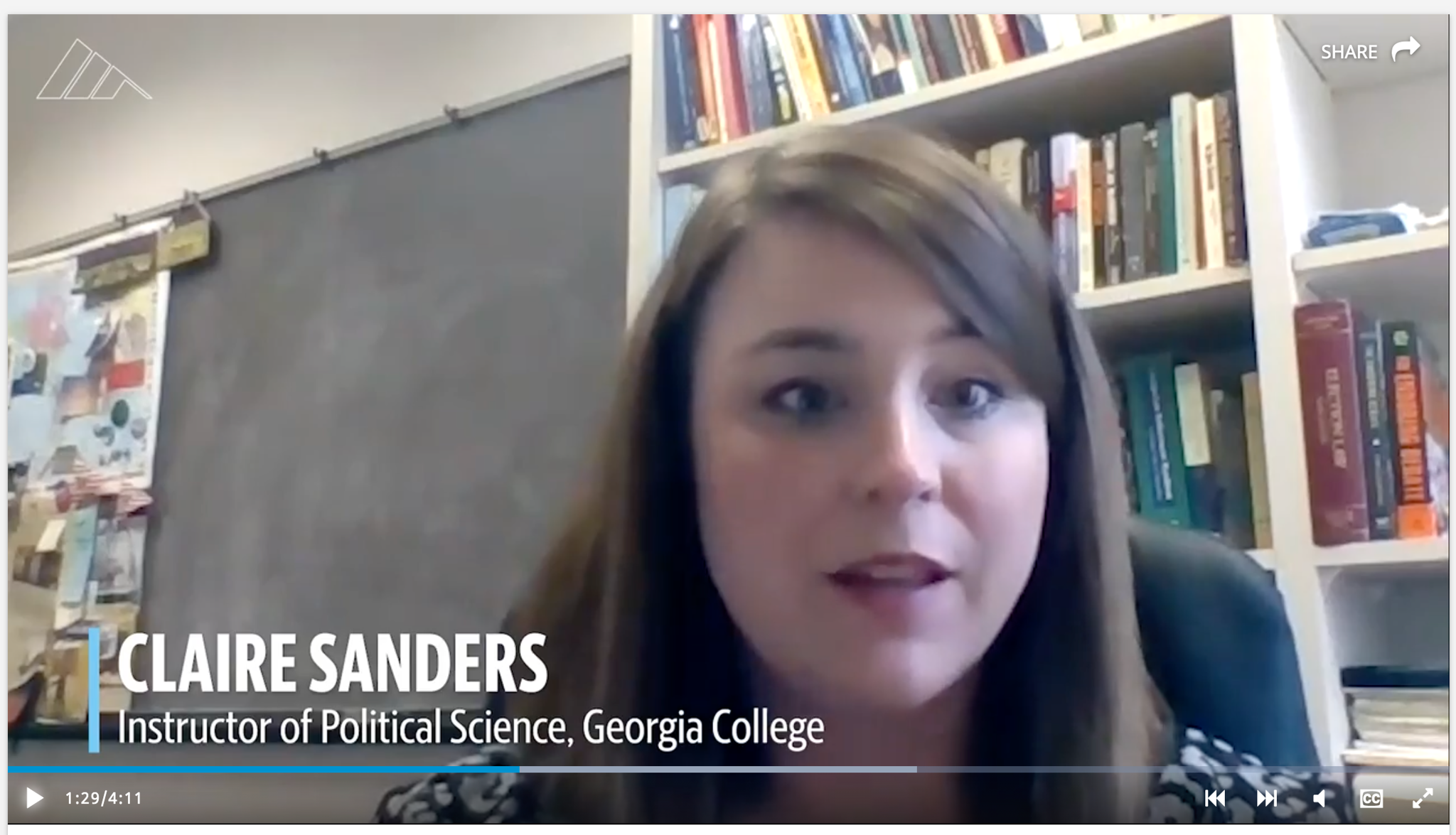 Claire Sanders in the McClatchy video.
