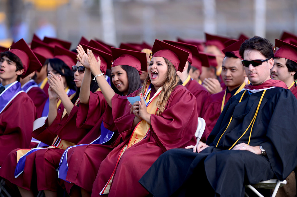 . Wilson High School holds their forty-seventh commencement ceremony Tuesday evening, May 20, 2014 at the Hacienda Heights school. (Photo by Sarah Reingewirtz/Pasadena Star-News)