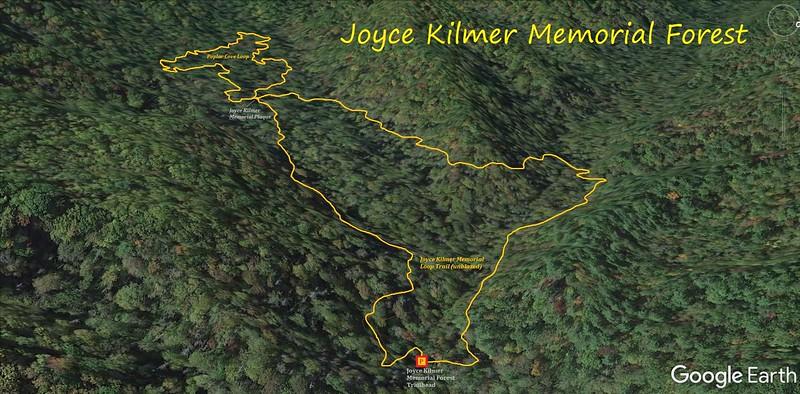 Joyce Kilmer Memorial Forest Hike Route Map