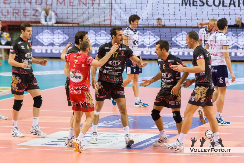 Perugia Sir Safety PERUGIA vs CMC RAVENNA  9ª Giornata andata, Campionato Italiano di Volley Maschile, Serie A1 - 2012/13