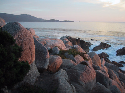 Boulders by the sea