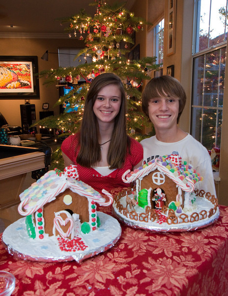 Colleen and Joey present their masterpieces of edible architecture.