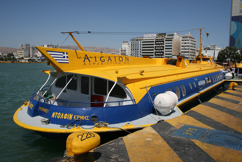 2009 - Hydrofoil FLYING DOLPHIN HERMES moored in Piraeus.
