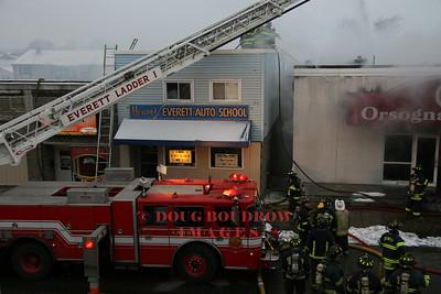 Everett, MA - 3rd Alarm, 316 Main Street, 1-27-08
